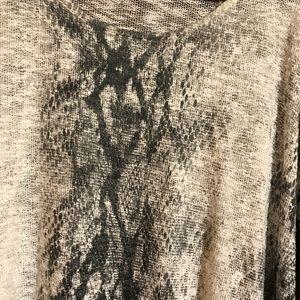 Karlie Sweaters - Karlie Snakeskin Sweater